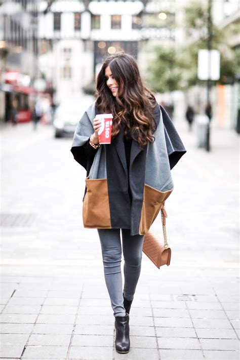 Cape & Hot Coffee   London Outfit ? The Sweetest Thing
