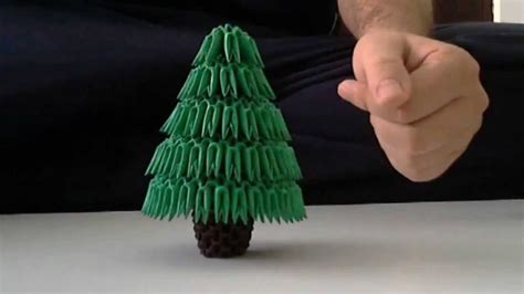 3d Origami Tree - how to make 3d origami tree