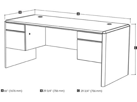 typical desk size average desk dimensions pictures to pin on pinterest