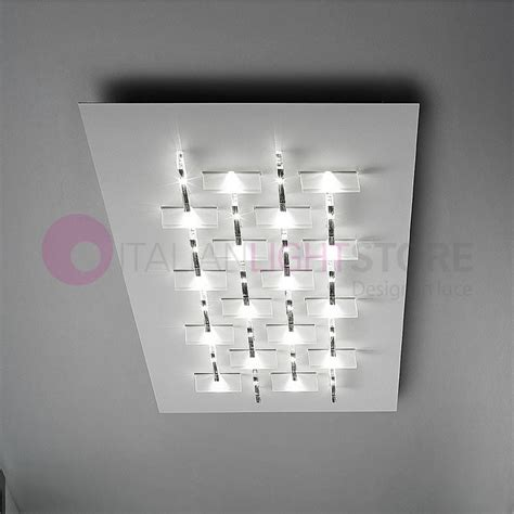 faretti soffitto led cristalli plafoniera soffitto led cristalli l 80 design
