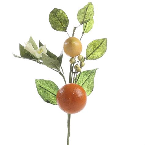 artificial orange and lemon floral pick picks and stems