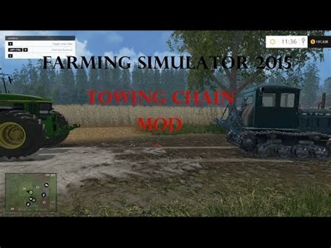 cadenas towing farming simulator 2015 towing chain mod youtube