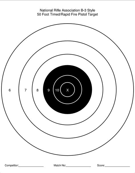 printable rimfire targets printable target collection
