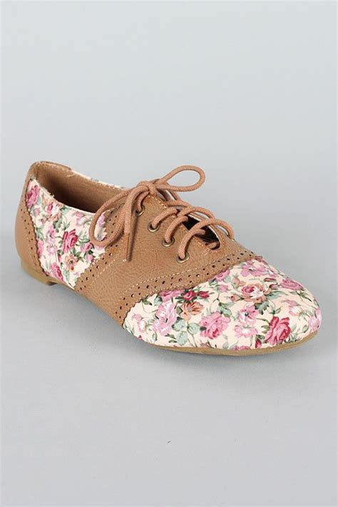 flower oxford shoes flats shoes and floral shoes on