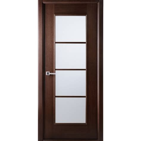 Contemporary Interior Glass Doors Aries Ag103 Interior Door In A Wenge Finish With Frosted Glass Aries Interior Doors