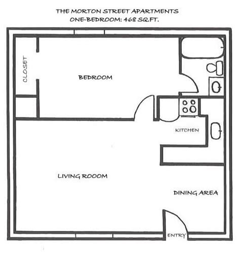 One Room Floor Plans by One Bedroom Floor Plans 171 Floor Plans