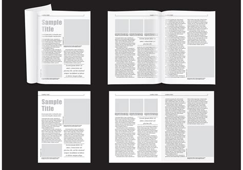 magazine layout templates minimal magazine layout free vector stock