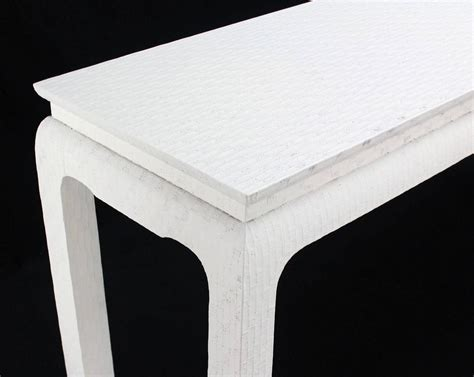 white lacquer sofa table grass cloth white lacquer console sofa table by baker for