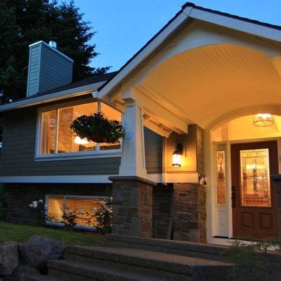craftsman raised ranch renovation craftsman style porch design ideas pictures remodel and