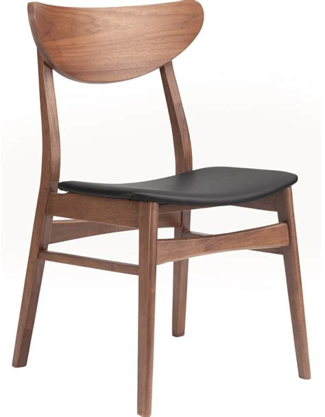 modern digs furniture colby dining chair walnut modern digs furniture