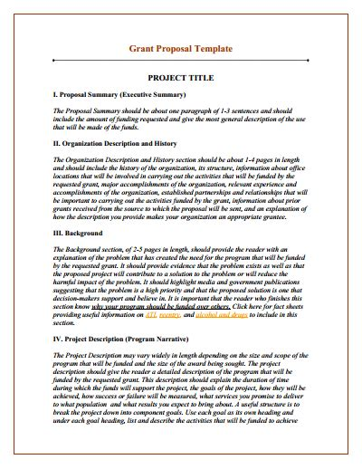 program design grant proposal grant proposal template download create edit fill and