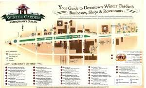 Winter Garden Florida Map by Winter Garden Merchants Guild Map Winter Garden Florida