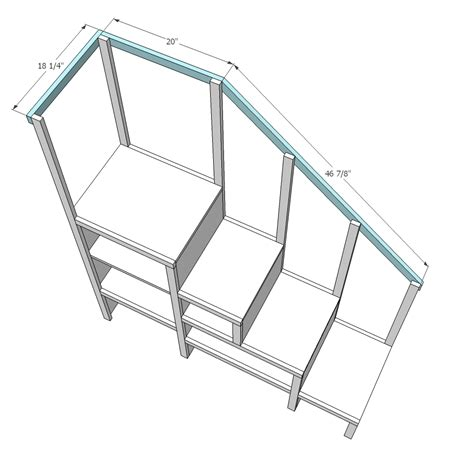 How To Build A Bunk Bed With Stairs White Sweet Pea Garden Bunk Bed Storage Stairs Diy Projects
