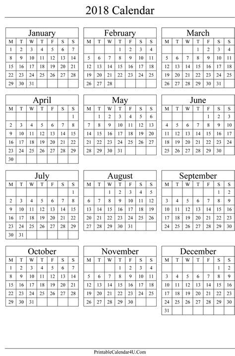 printable calendar 2018 full page 2018 full year calendar printable calendar 2018