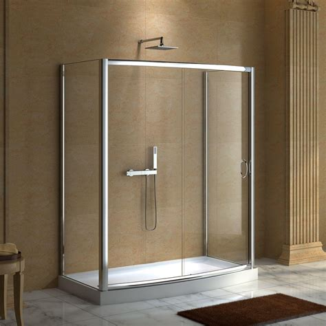 bath with shower enclosure 59 quot x 30 quot karev shower enclosure shower enclosures and pans shower bathroom