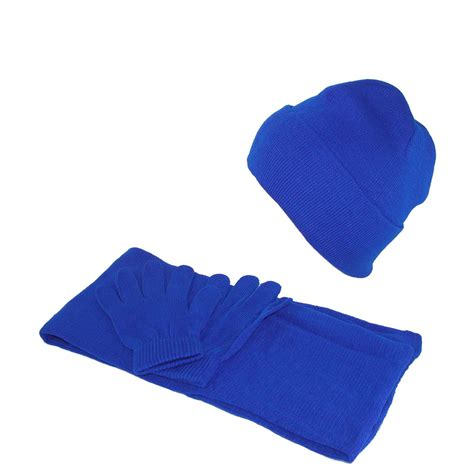 ctm 174 stretch hat gloves and scarf winter set