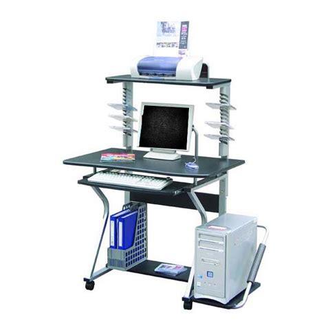 Multi Level Computer Desk Deluxe Ergonomic Multi Level Computer Desk Workstation Graphite Ebay