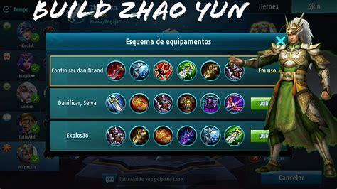 mobile legend build melhor build do zhao yun zilong mobile legends