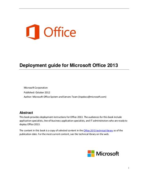 layout guides publisher 2013 deployment guide for office 2013