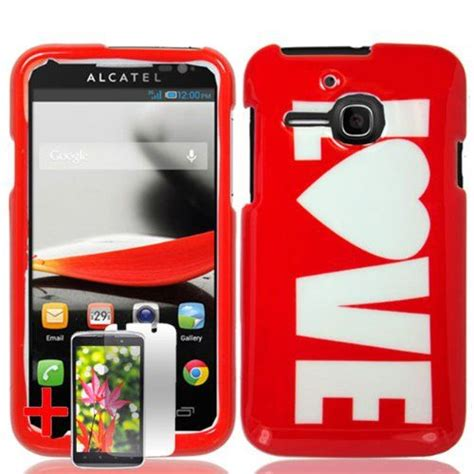 cute themes for alcatel one touch alcatel one touch evolve red white love cover hard
