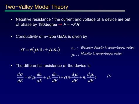 gunn diode two valley model ppt the gunn diode powerpoint presentation id 3766133
