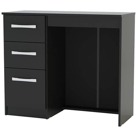 High Gloss Black Desk by High Gloss Finish 3 Drawer Dressing Table Desk Black