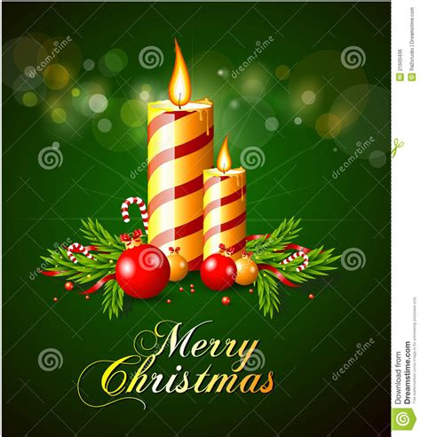 merry christmas greeting card  candles stock vector image