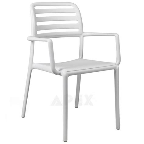 Resin Stacking Chairs Outdoor by Outdoor Resin Arm Chair Stacking 8 High Apex