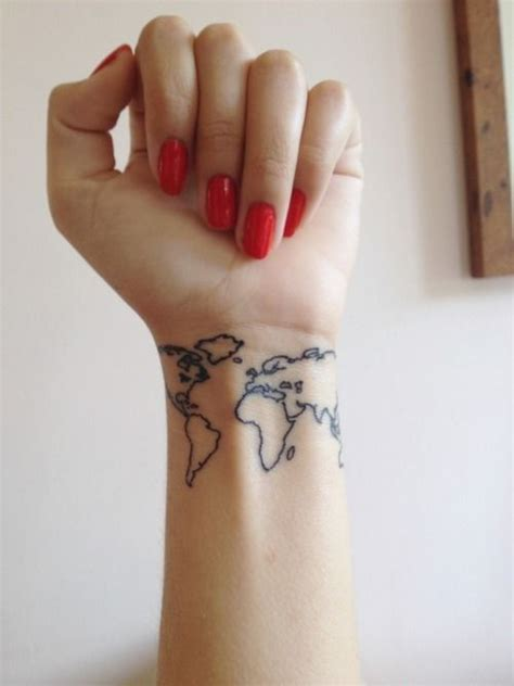 world map wrist tattoo world map tattoos