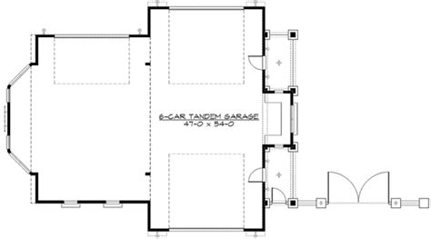 tandem garage plans architectural designs