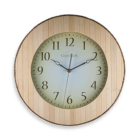 bed bath beyond clocks buy bamboo wall clock from bed bath beyond