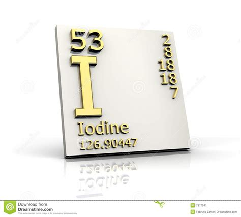 Iodine Periodic Table by Iodine Form Periodic Table Of Elements Stock Image Image