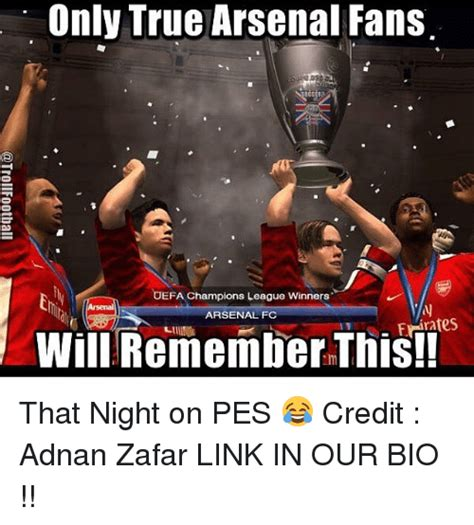 arsenal remembers 25 best memes about chions league winners chions