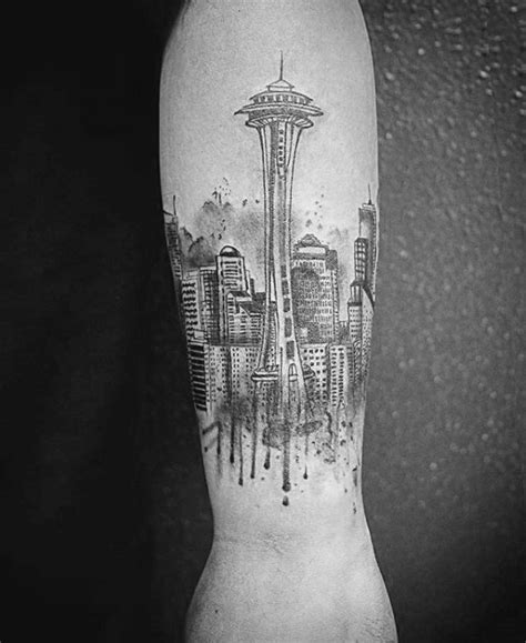 seattle skyline tattoo 30 seattle skyline designs for city ink ideas