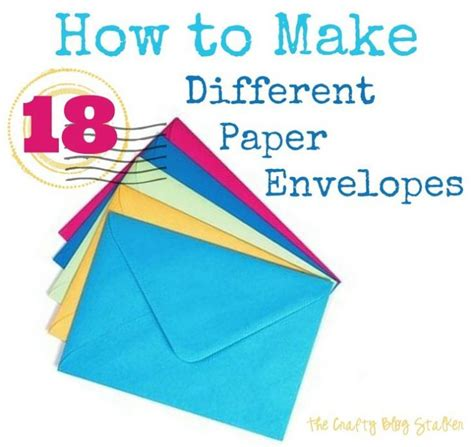 how to make an envelope out of paper ideas with