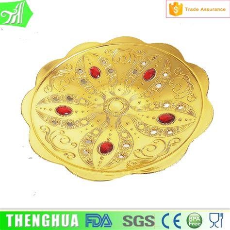 Fruit Plastic Plate gold plastic plate fruit tray custom decorative