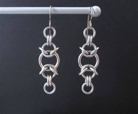 mail jewelry chainmaille earrings stainless steel earrings chain maille