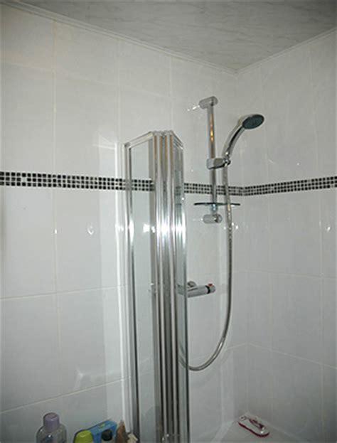 Small Bathroom Tiling Ideas duham tiling bathroom with white ceramic tiles and black