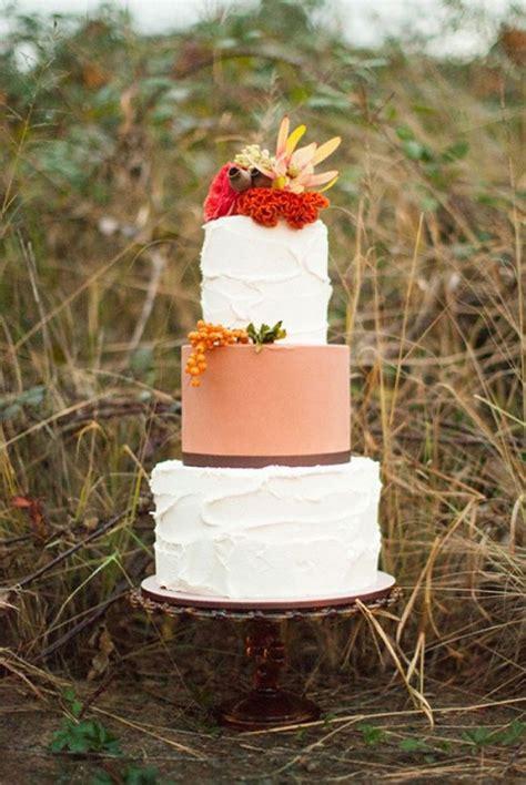 Simple Autumn Wedding Cake by Autumn Wedding Ideas Wedding Inspiration