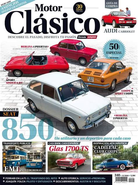 Revista Motor 2016 | revista motor cl 225 sico diciembre 2016