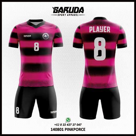 desain baju bola warna pink keren garuda print garuda print