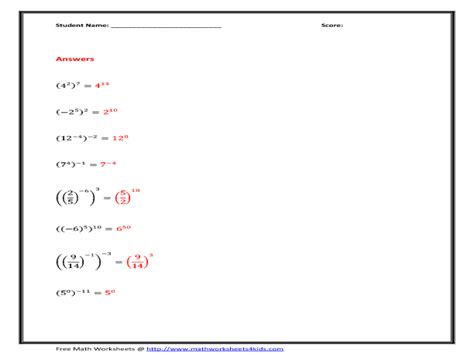 Powers Of Monomials Worksheet Answers by Multiplying Monomials Worksheets Free Add Subtract