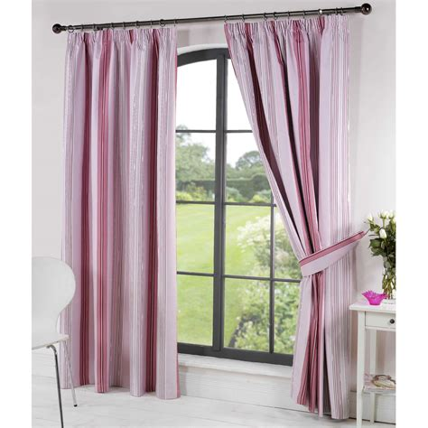 very co uk curtains stripy thermal blackout readymade curtains pink