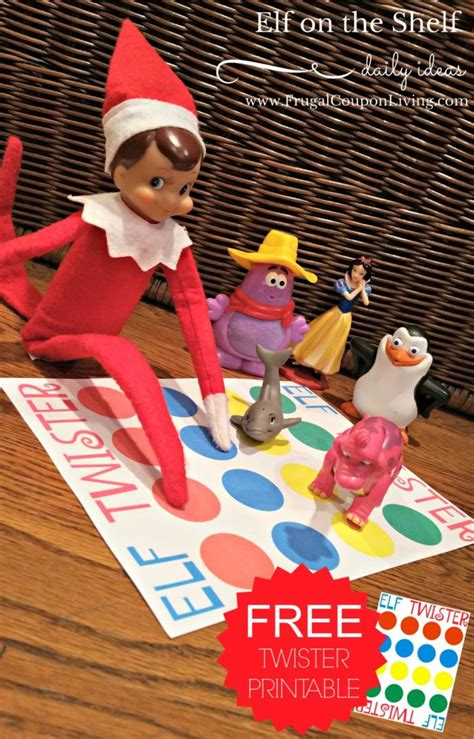 ideas elf on the shelf elf on the shelf ideas elf twister printable