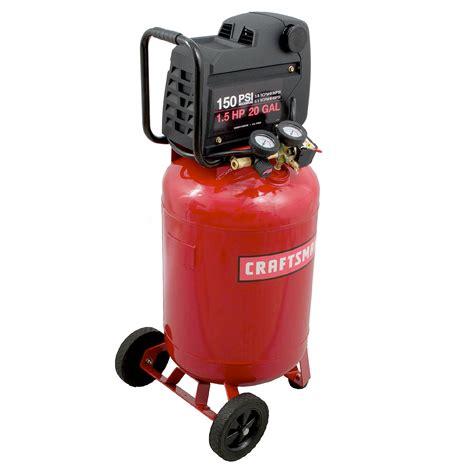 Craftsman 20 Gallon1.5 HP Vertical Air Compressor 150 Max PSI