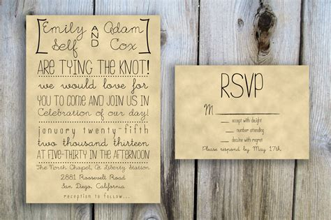 printable wedding invitation rsvp card set package