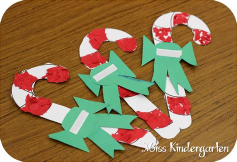 candy cane tear art holiday craft ideas miss kindergarten