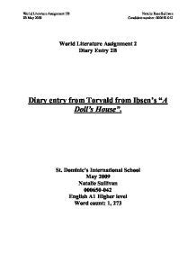 the doll house act 1 a doll s house act 1 analysis essay illustrationessays