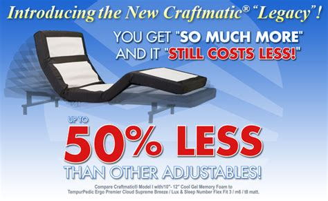 craftmatic bed price list information about craftmatic com craftmatic adjustable