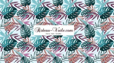 Rideau De Tissu by Tissu Au M 232 Tre Textile Motif Exotique Tropical Rideaux